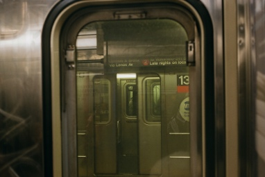 2-Train heading southbound at 34 Street/Penn Station