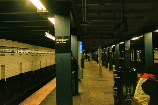 Broadway Junction Station platform on the A/C line
